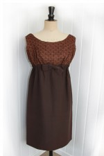 1960's Chocolate Dress