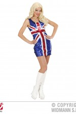 94632 Union Jack Sequinned Dress