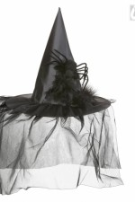 9395R Witch Hat with Tulle