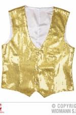 Gold sequin waistcoat 9322G