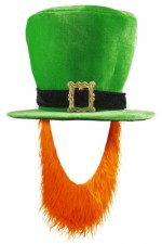 9508P Leprechaun hat with beard