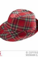0093G Red Tartan Trilby Hat