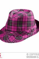 0094H Pink Tartan Trilby Hat