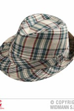 0095I Beige Tartan Trilby Hat