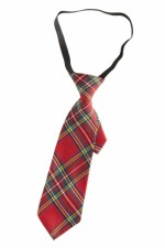 0096J Red Tartan Tie