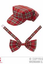9302R Tartan Hat & Bow Tie Set