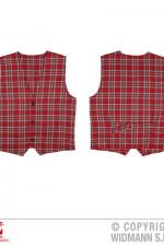 9308R Red tartan waistcoat