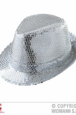 9066A silver sequin trilby hat