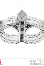 03634 Silver disco ball eye mask