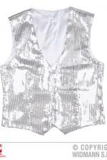 9321S Silver sequin waistcoat