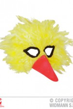 00579 Yellow Bird Feather Mask