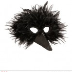 00580 Black Bird Feather Mask