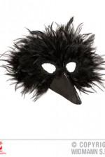 00580 Black bird feather mask