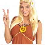 04656 Hippie Wig With Sunflower
