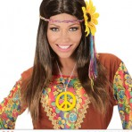 04657 Hippie Wig With Sunflower