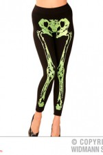 01537 Neon Green Skeleton Leggings