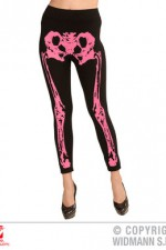 01539 Neon Pink Skeleton Leggings