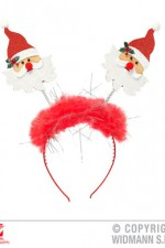 07050 Santa Claus Head Bopper with Marabou & Tinsel