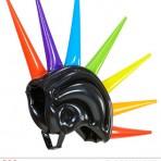 01459 Inflatable Multicolour Spikes Helmet