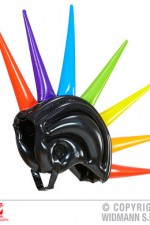 01459 Inflatable Multicolour Spikes Helmet