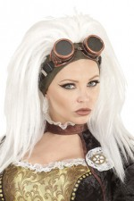 02096 Steampunk Wig with Goggles