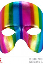 03647 Metallic Rainbow Chinless Mask