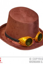 06907 Steampunk Top Hat with Goggles