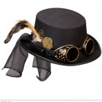 60814 Steampunk Top Hat with Goggles