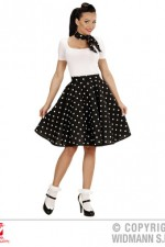 01076 50's Polka Dot Skirt/Scarf Set