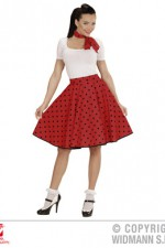 01077 50's Polka Dot Skirt/Scarf Set