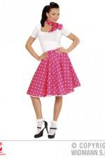 01078 50's Polka Dot Skirt/Scarf Set