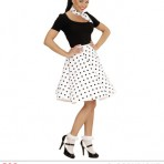01079 50's Polka Dot Skirt/Scarf Set