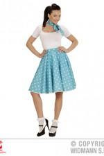 01080 50's Polka Dot Skirt/Scarf Set