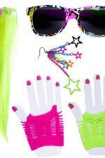 01157 80s Neon girl dress up set