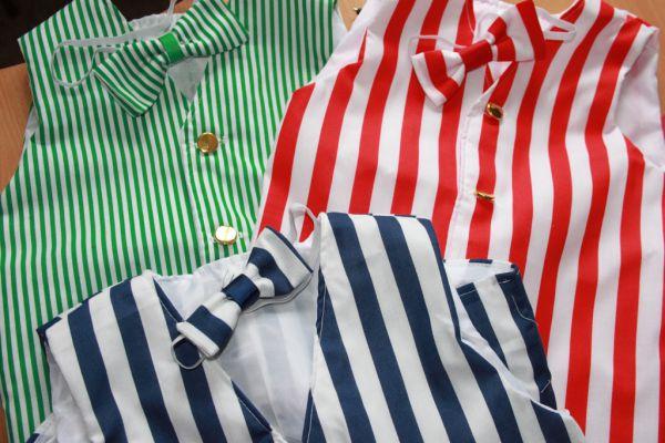 Victorian/Edwardian BARBERSHOP Striped Waistcoat All Ages/Sizes Kostiumy męskie