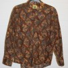 Brown floral shirt