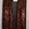 Copper sequinned jacket