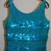 Turquoise top with large sequins