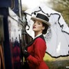 Edwardian lady at the station