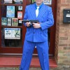 Blue Gangster Suit