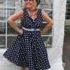 50's style spot dress
