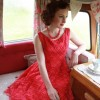 1950's red lace dress