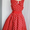 50's style red spot dress